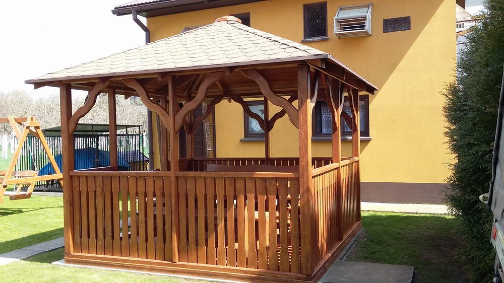 Altana 3x3m Dach Kopertowy Marszałek Zakład Budowlano Drzewny